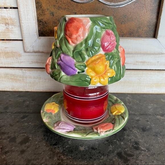 Yankee Candle small jar shade&dish spring